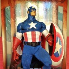 Figuras y Muñecos Marvel: ESTATUA MARVEL DEL CAPITAN AMERICA PREMIUM FORMAT FIGURE SIDESHOW.. Lote 181400146