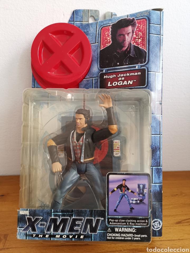 FIGURA X-MEN THE MOVIE, LOGAN, EN SU BLÍSTER. MARVEL TOY BIZ (Juguetes - Figuras de Acción - Marvel)