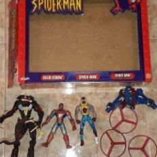 Figuras y Muñecos Marvel: FIGURAS JUGUETES SPIDERMAN SPIDER-MAN ALIEN VENOM SPIDERMAN LANZA LAS HELICES MAVEL FAMOSA EN CAJA. Lote 182526238