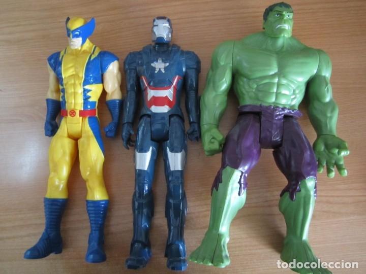 LOTE 3FIGURAS MARVEL HASBRO SUPERHEROES HULK (Juguetes - Figuras de Acción - Marvel)