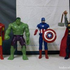 Figuras y Muñecos Marvel: HULK - THOR - CAPITAN AMERICA - ESQUELETOR. Lote 183019201