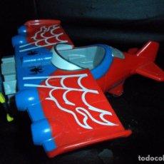 Figuras y Muñecos Marvel: SPIDER-MAN AVION - MARVEL HASBRO 2011 - VEHICULO SPIDERMAN - 17CM.. Lote 183073883