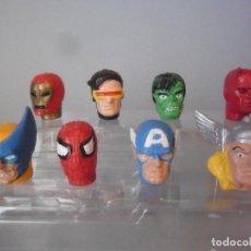 Figuras y Muñecos Marvel: MARVEL SUPER HEROES CABEZAS DE PVC YOLANDA 1996. Lote 183887025