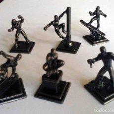 Figuras y Muñecos Marvel: SPIDER-MAN LOTE DE 6 FIGURAS DE METAL SPIDERMAN. MARVEL 2006. Lote 184557996