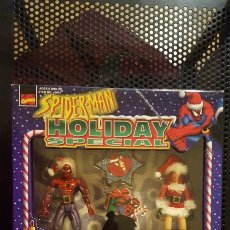 Figuras y Muñecos Marvel: FIGURAS - SPIDER-MAN (SPIDERMAN) & MARY JANE CHRISTMAS SANTA - HOLIDAY SPECIAL - TOY BIZ - 1997. Lote 185691153