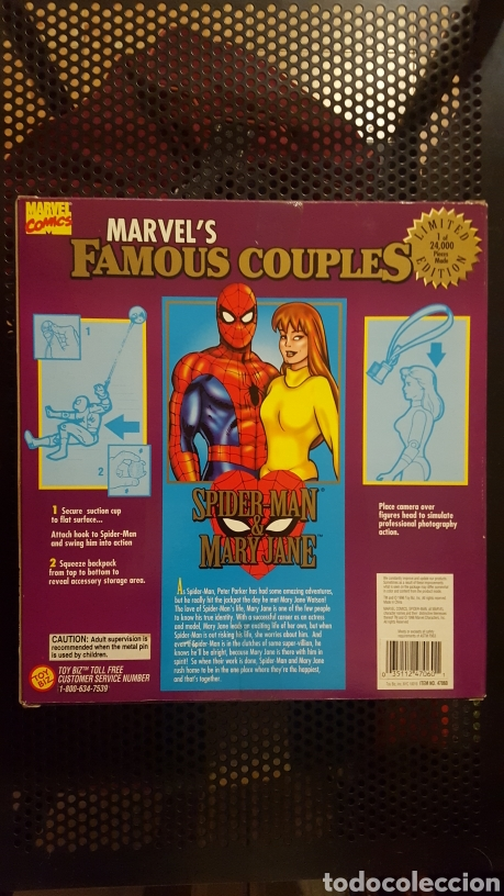 Figuras y Muñecos Marvel: Figuras - Spider-man (Spiderman) & Mary Jane - Famous couples - Toy Biz - 1996 - Foto 2 - 185694772