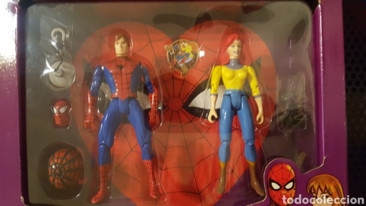 Figuras y Muñecos Marvel: Figuras - Spider-man (Spiderman) & Mary Jane - Famous couples - Toy Biz - 1996 - Foto 3 - 185694772
