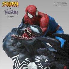 Figuras y Muñecos Marvel: SPIDERMAN VS VENOM DIORAMA BUSTO SHIDESHOW SIDESHOW MARVEL SPIDERMAN VENOM. Lote 186130547