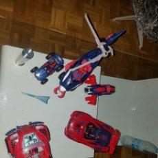 Figuras y Muñecos Marvel: LOTE DE 5 VEHÍCULOS DE SPIDER-MAN CON SUS 5 MUÑECOS. Lote 187428961
