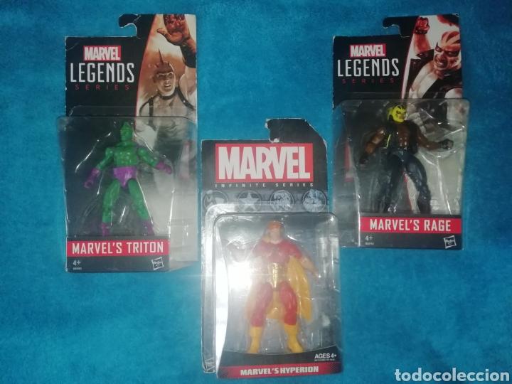 MARVEL LOTE FIGURAS TRITON/RAGE/HYPERION (Juguetes - Figuras de Acción - Marvel)