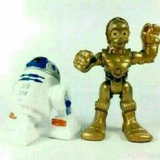 Figuras y Muñecos Marvel: LOTE 2 FIGURAS STAR WARS C3PO R2-D2 SUPER HERO SQUAD. NUEVO. Lote 194398391