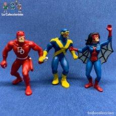 Figuras y Muñecos Marvel: LOTE 3 FIGURAS MARVEL - CÍCLOPE 1990 + SPIDERWOMAN 1987 + DAREDEVIL 1990 -COMICS SPAIN . Lote 194408072