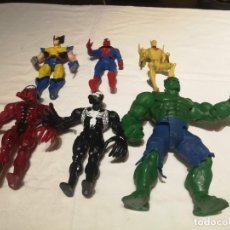 Figuras y Muñecos Marvel: FIGURAS MARVEL TOY BIZ INC 1996 HULK SPIDERMAN LOBEZNO. Lote 194646075