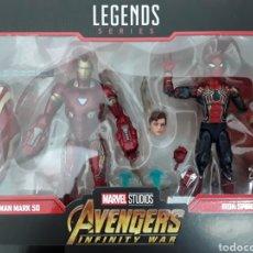 Figuras y Muñecos Marvel: PACK FIGURAS IRON SPIDER Y IRON MAN MARVEL LEGENDS 80TH ANNIVERSARY. Lote 195276697