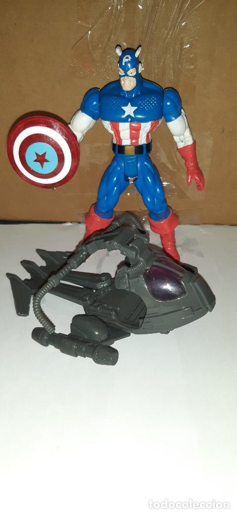 FIGURA MARVEL. CAPITAN AMERICA (ELEKTRO SPARK). COMPLETA. SPIDERMAN ANIMATED. TOYBIZ (Juguetes - Figuras de Acción - Marvel)