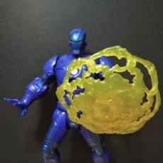 Figuras y Muñecos Marvel: FIGURA MARVEL IRON MAN AZUL-17CM APROX.-HASBRO-2012-VER FOTOS-B1-V1. Lote 196337652