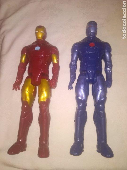 Figuras y Muñecos Marvel: LOTE IRON MAN CLASICO Y AZUL DE MARVEL. HASBRO 2013 - Foto 3 - 199989042