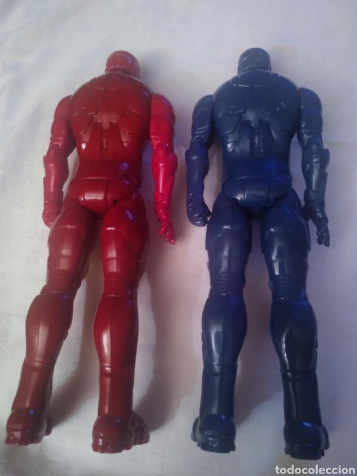 Figuras y Muñecos Marvel: LOTE IRON MAN CLASICO Y AZUL DE MARVEL. HASBRO 2013 - Foto 2 - 199989042