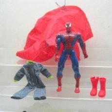 Figuras y Muñecos Marvel: 26 CM - MUÑECO ARTICULADO SPIDERMAN CON COMPLEMENTOS. Lote 200856376