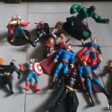 Figuras y Muñecos Marvel: HULK, SUPERAN, BATMAN, CAPITÁN AMÉRICA, LOBEZNO, THOR. Lote 203592490