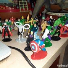 Figuras y Muñecos Marvel: COLECCIÓN DE 24 HÉROES Y VILLANOS MARVEL.SPIDERMAN,CAPITÁN AMÉRICA,HULK,THOR...ETC.. Lote 203860590