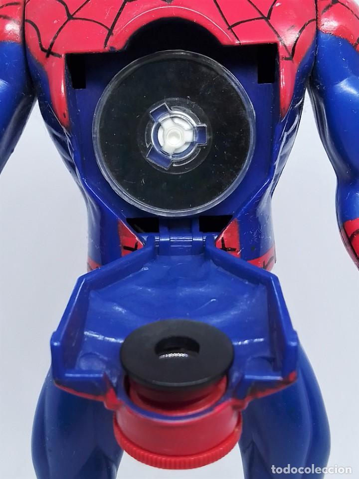 Figuras y Muñecos Marvel: Figura de Spider-Man Projectors Spiderman Proyector © 1994 MARVEL TOY BIZ. INC. CHINA V-2 - Foto 8 - 203970751
