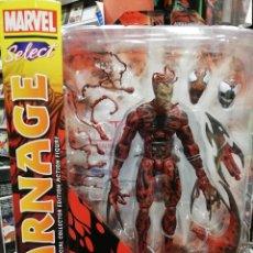 Figuras y Muñecos Marvel: MARVEL SELECT. CARNAGE MATANZA 18 CM. TOTALMENTE ARTICULADO Y GRAN DETALLE. Lote 204054385