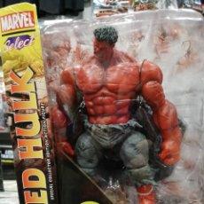 Figuras y Muñecos Marvel: MARVEL SELECT. HULK ROJO 25 CM. TOTALMENTE ARTICULADO Y GRAN DETALLE. Lote 204054848