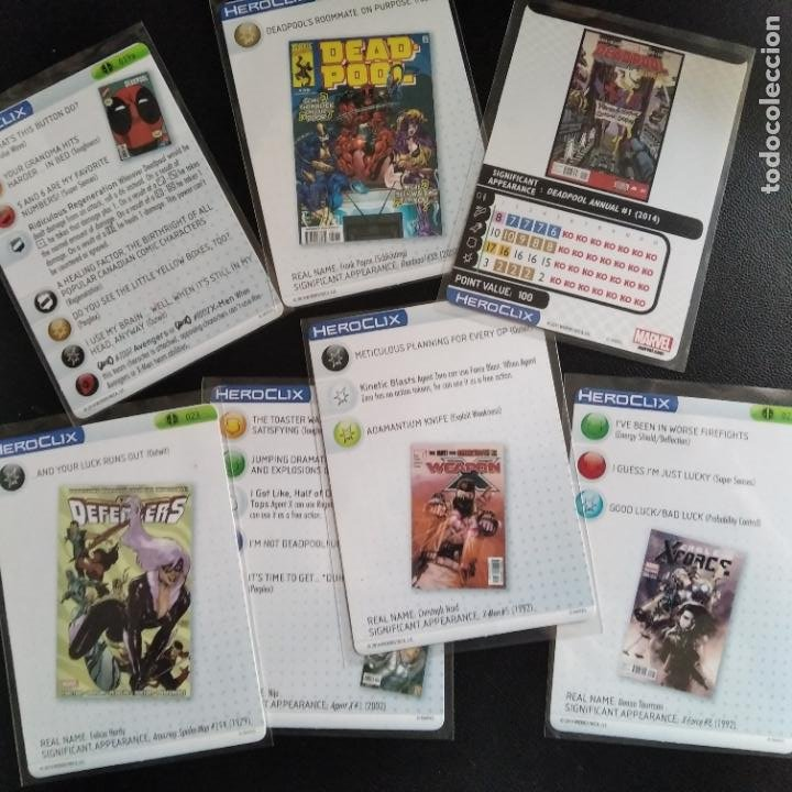 Figuras y Muñecos Marvel: LOTE 10 FIGURAS HEROCLIX MASACRE: DEADPOOL, CABLE, DOMINO, GATA NEGRA, CONSTRICTOR, ARMA X... - Foto 2 - 204114412