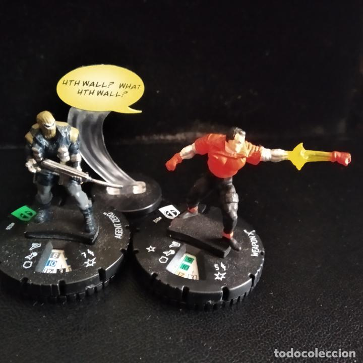 Figuras y Muñecos Marvel: LOTE 10 FIGURAS HEROCLIX MASACRE: DEADPOOL, CABLE, DOMINO, GATA NEGRA, CONSTRICTOR, ARMA X... - Foto 5 - 204114412