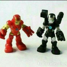 Figuras y Muñecos Marvel: SUPER HERO SQUAD, NUEVO, IRON MAN Y MÁQUINA DE GUERRA MARVEL PLAYSKOOL IRONMAN. Lote 204443982
