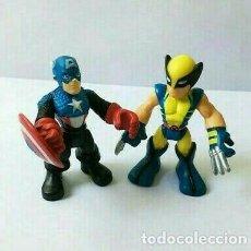 Figuras y Muñecos Marvel: SUPER HERO SQUAD, NUEVO, CAPITÁN AMÉRICA Y LOBEZNO, MARVEL PLAYSKOOL LOGAN. Lote 219103485