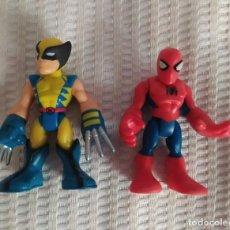 Figuras y Muñecos Marvel: SUPER HERO SQUAD, NUEVO, SPIDER-MAN Y LOBEZNO, MARVEL PLAYSKOOL SPIDERMAN LOGAN. Lote 204444988