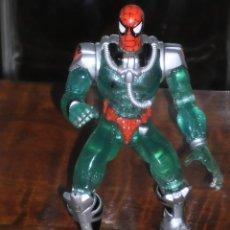 Figuras y Muñecos Marvel: SPIDER-MAN - SHARK TRAP SPIDEY- WEB SPLASHERS - 1997 MARVEL - TOY BIZ –. Lote 205019557