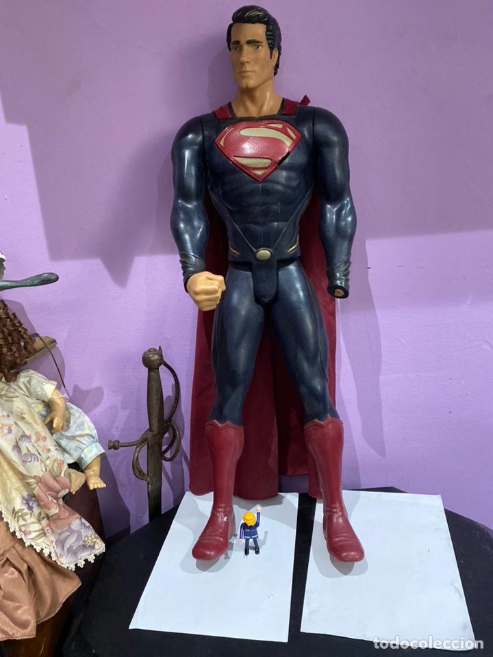 Figuras y Muñecos Marvel: ESPECTACULAR FIGURA DE SUPERMAN 80CM.MARCADO TM & DC COMICS JAKKS PACIIC - Foto 3 - 205693325