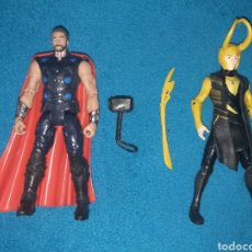 Figuras y Muñecos Marvel: MARVEL FIGURAS THOR Y LOKI. Lote 206471768