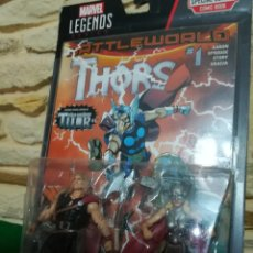 Figuras y Muñecos Marvel: MARVEL LEGENDS , DEFENDERS OF ASGARD , THOR ODINSON Y THOR (JANE FOSTER ) CONTIENE COMIC , THORS Nº1. Lote 207178906
