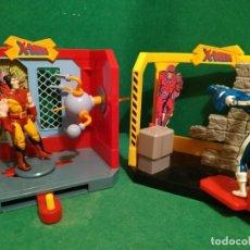 Figuras y Muñecos Marvel: LOTE PLAYSETS DANGER ROOM WOLVERINE CICLOPS LOBEZNO CICLOPE HABITACION DEL PELIGRO TOY BIZ. Lote 207788981