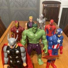 Figuras y Muñecos Marvel: LOTE DE 7 FIGURAS DE ACCION MARVEL DE HASBRO DE 28CM. Lote 210248965