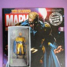 Figuras y Muñecos Marvel: FIGURA DE PLOMO MARVEL THE SENTRY Nº 77 , CON CAJA Y REVISTA. Lote 210521232