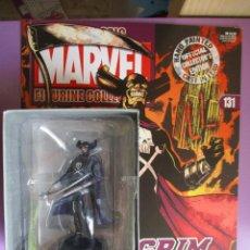Figuras y Muñecos Marvel: FIGURA DE PLOMO MARVEL GRIM REAPER Nº 131 , CON CAJA Y REVISTA. Lote 210521455
