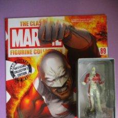 Figuras y Muñecos Marvel: FIGURA DE PLOMO MARVEL GUARDIAN Nº 89 , CON CAJA Y REVISTA. Lote 210521620