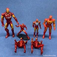 Figuras y Muñecos Marvel: LOTE DE 6 FIGURAS IRON MAN - DIFERENTES TAMAÑOS - DESDE 8 CM A 16CM. Lote 211795012