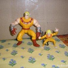 Figuras y Muñecos Marvel: FIGURA DE DIENTES DE SABLE Y CHICO SALVAJE AOA ERA APOCALIPSIS. X-MEN MARVEL TOY BIZ. COMPLETA.. Lote 211855805