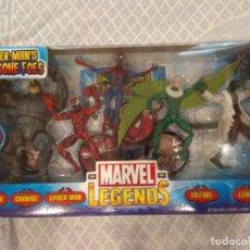 Figuras y Muñecos Marvel: MARVEL LEGENDS. SPIDER-MAN'S FEARSOME FOES. PACK DE 5 FIGURAS. INCLUYE SU CÓMIC.. Lote 211997548