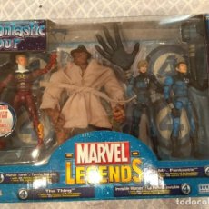 Figuras y Muñecos Marvel: MARVEL LEGENDS. FANTASTIC FOUR. PACK DE 4 FIGURAS. INCLUYE SU CÓMIC.. Lote 212000157
