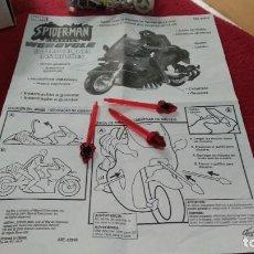 Figuras y Muñecos Marvel: LOTE LOS 3 MISILES + INSTRUCCIONES SPIDER MAN CLASSICS WEBCYCLE 2001 MOTO MARVEL FAMOSA. Lote 212035220