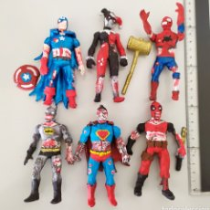 Figuras y Muñecos Marvel: LOTE MARVEL ZOMBIES BOOTLEG FIGURA ACCIÓN SUPERMAN SPIDERMAN DEADPOOL BATMAN. Lote 214304991
