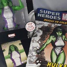 Figuras y Muñecos Marvel: BUSTO MARVEL - HULKA - Nº 50 - SUPERHÉROES MARVEL - COLECCION - 2019 - CON FASCÍCULO. Lote 215077497