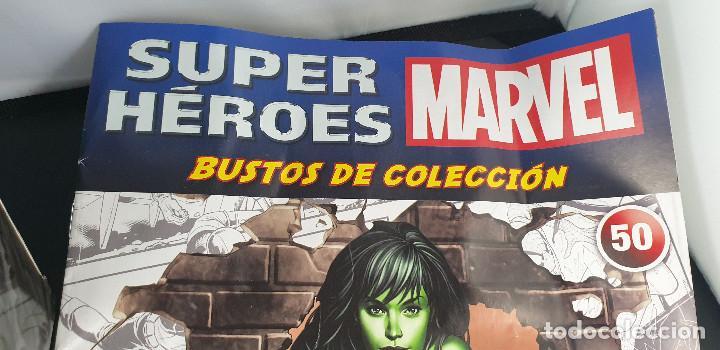 Figuras y Muñecos Marvel: BUSTO MARVEL - HULKA - Nº 50 - SUPERHÉROES MARVEL - COLECCION - 2019 - CON FASCÍCULO - Foto 3 - 215077497